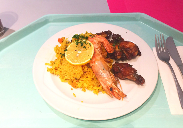 Paella mit seafood & chicken wings / Paella mit Meeresfrüchten & Chicken Wings