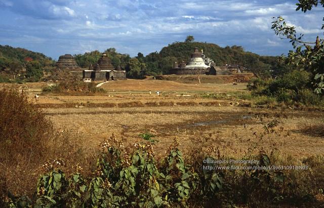 Mrauk U, stupas in the landscape