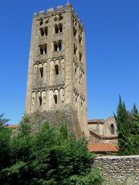 Clocher lombard, abbaye Saint Michel de Cuxa (Xe-XIe-XXe), Codalet, Conflent, Pyrénées-Orientales, Occitanie, France.