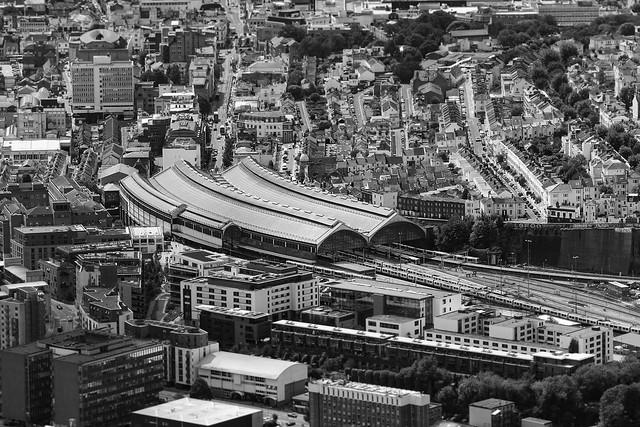 Brighton Railway Station aerial image