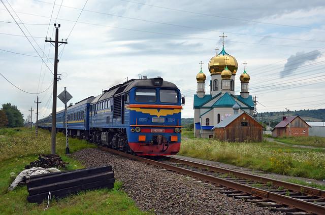 🇺🇦 Train 13K @ Teresva (Тересва)