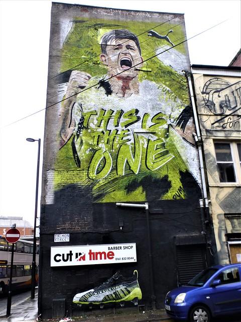 Manchester street art = Harry Maguire = PUMA ADVERT