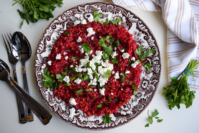 Beetroot and Feta Spelt Risotto