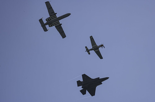 Underside of the Pacific Air Show Heritage Flight