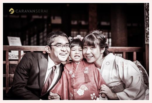 七五三 家族の写真 ファミリーフォト 親子で笑顔