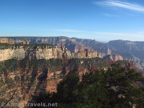 Cliffs around Roosevelt Point from Atoko Point, Grand Canyon National Park, Arizona