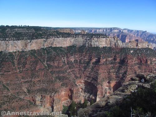 Cliffs along the rim from Atoko Point, Grand Canyon National Park, Arizona