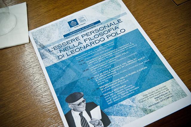 """Giornata di studio """"L'essere personale nella filosofia di Leonardo Polo"""""""
