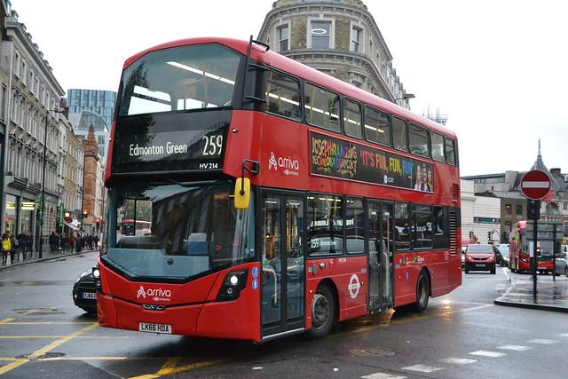 Arriva London HV214 LK66HDA