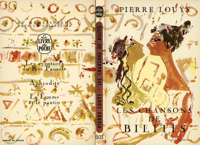 Livre de Poche 803 - Pierre Louÿs - Les chansons de Bilitis (with back)