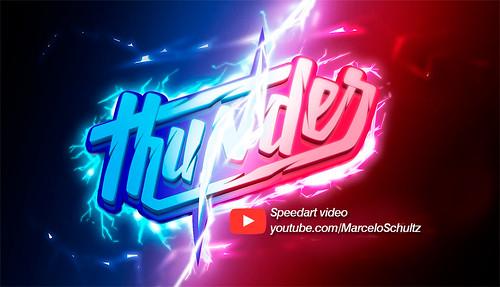 Thunder - Speedart video