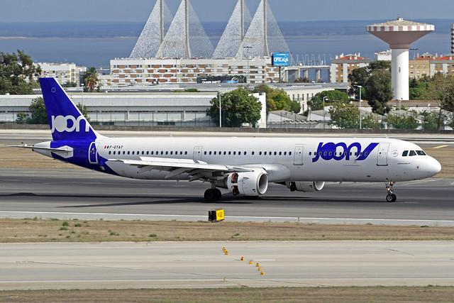 Joon Airbus A321-212 F-GTAT LIS 16-10-19