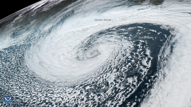 GOES-17 Watches Mid-Latitude Cyclone in Gulf of Alaska