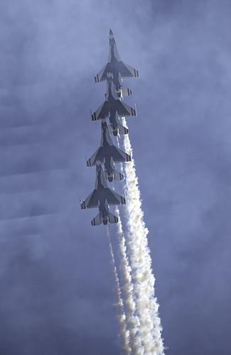 Thunderbirds in a Line