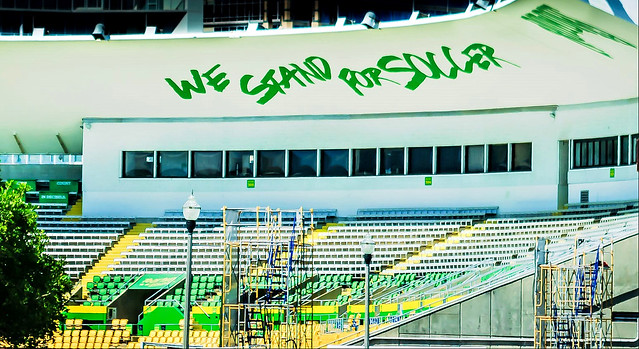 We stand for soccer,,,