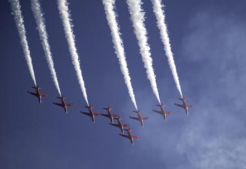 RAF Red Arrows 9 Planes