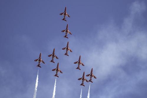 RAF Red Arrows Formation