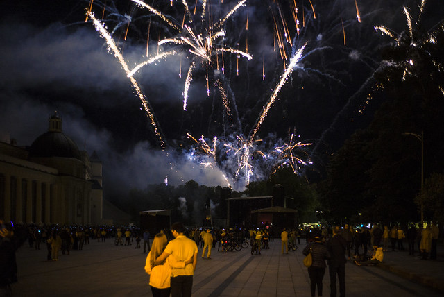 Fireworks in Cathedral Square