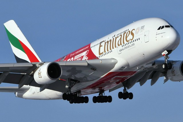 A6-EEV Airbus A380-861 at CYYZ