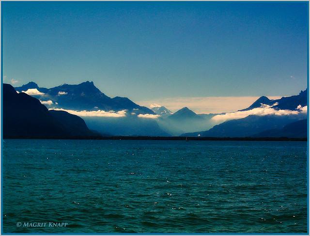 Genfer See und der einsame Segler