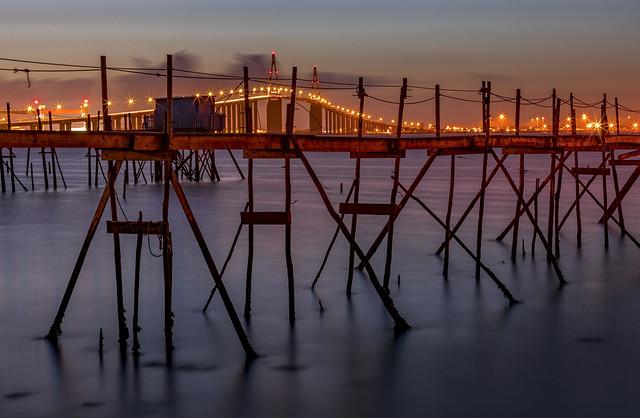 Pont de Saint-Nazaire - Carrelet de pêcheurs