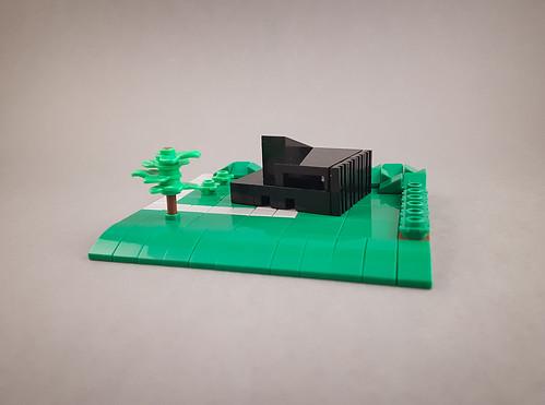 Modernist Black Building MOC.