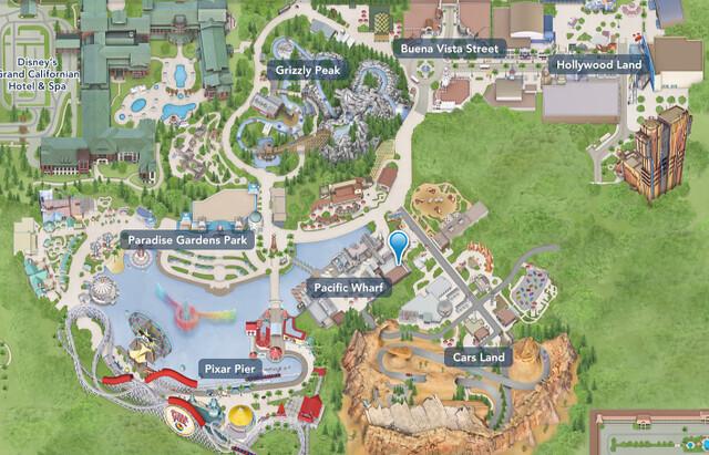 Mapa - Disney Adventure Park