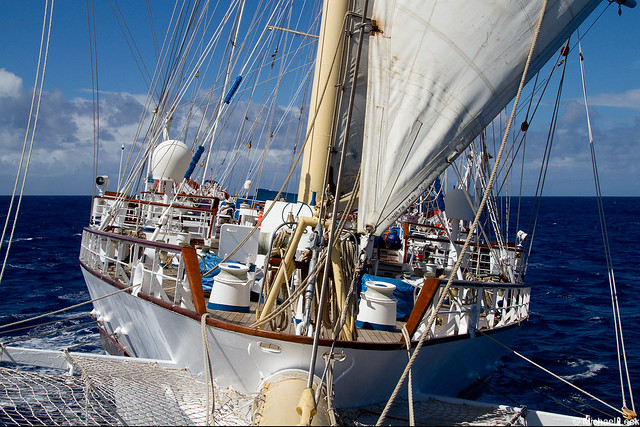 From the bowsprit of Star Clipper's barquentine Star Flyer; North Atlantic