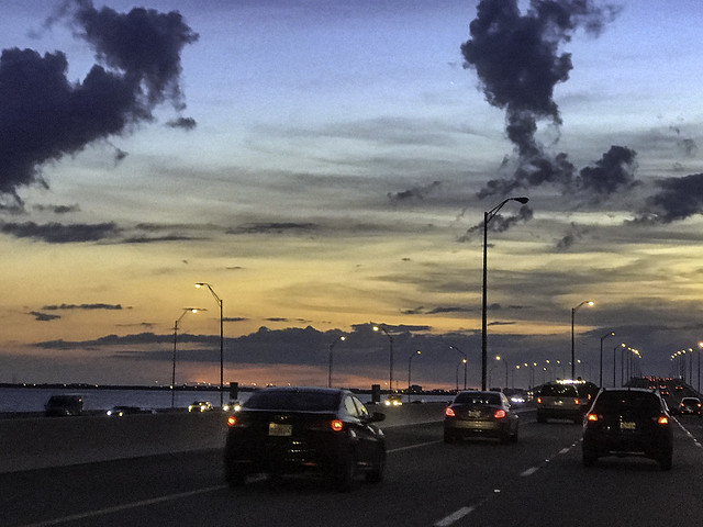 Driving in a Tampa Sunset IMG_2921-2