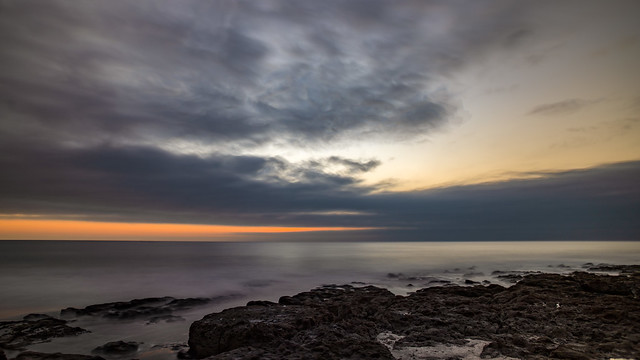 Nubes amenazantes en el atardecer de Iquique