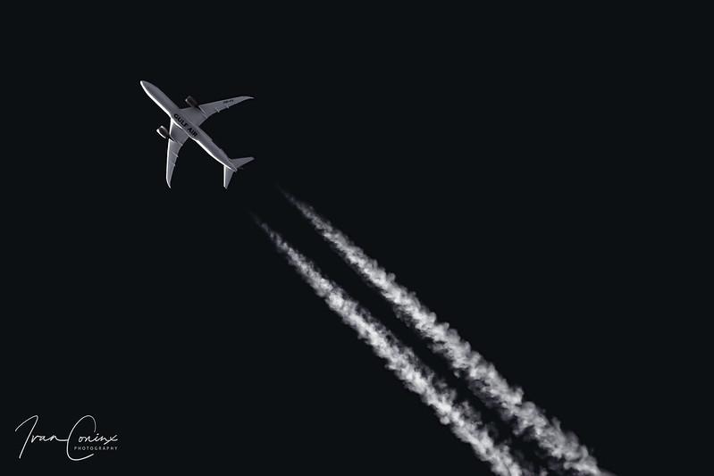 Boeing 787-9 Dreamliner – Gulf Air – A9C-FD – International Airspace – 2019 11 10 – Inflight – 01 – Copyright © 2019 Ivan Coninx