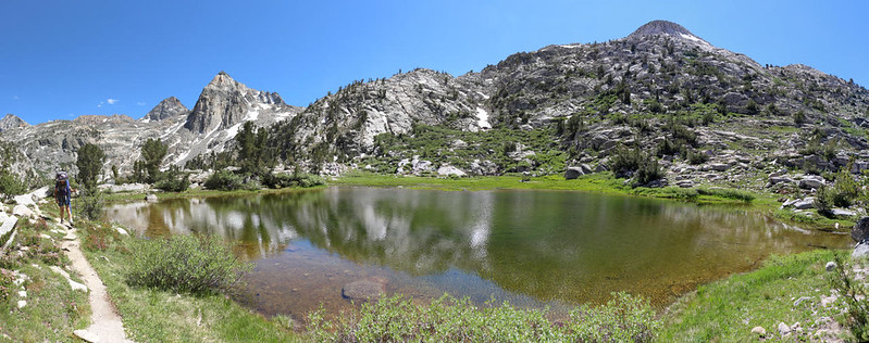The 60 Lakes Trail travels along one of the smaller of the Rae Lakes