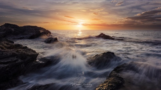 sunrise on the beach of Percheles