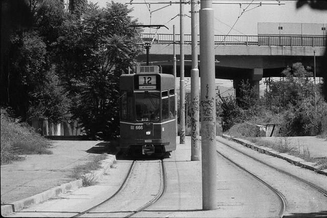 Ex-Basel tram № 666 near Sofia power plant