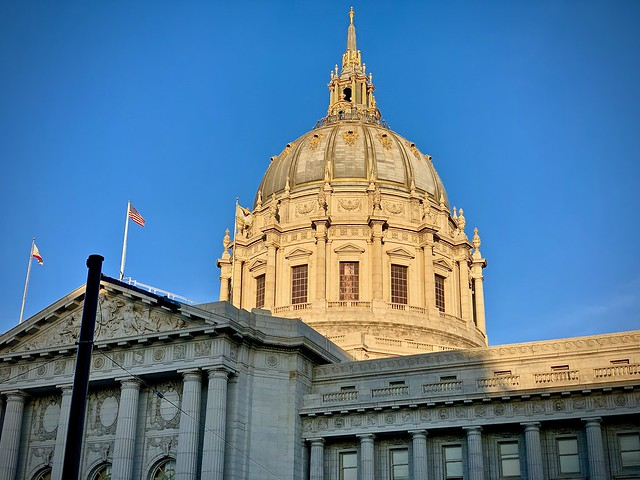 SF City Hall, late afternoon light