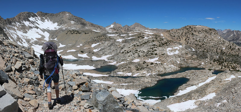 Mount Cotter, Peak 12500, and Mount Clarence-King were visible in the distance, center