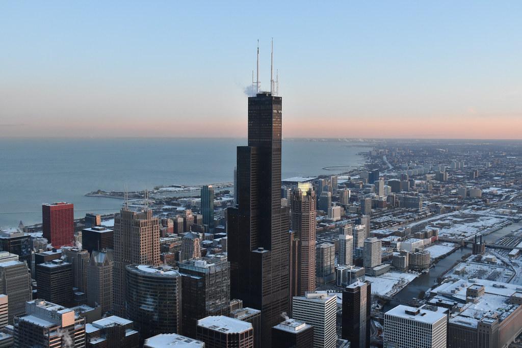 Chicago Sunset - Willis Tower