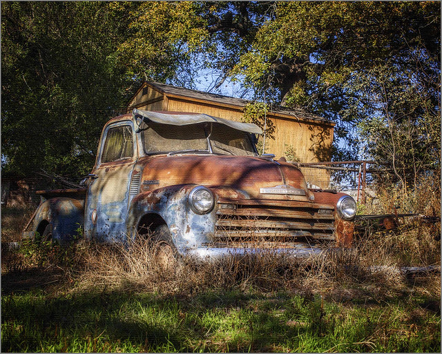 Rusted Chevy Pickup