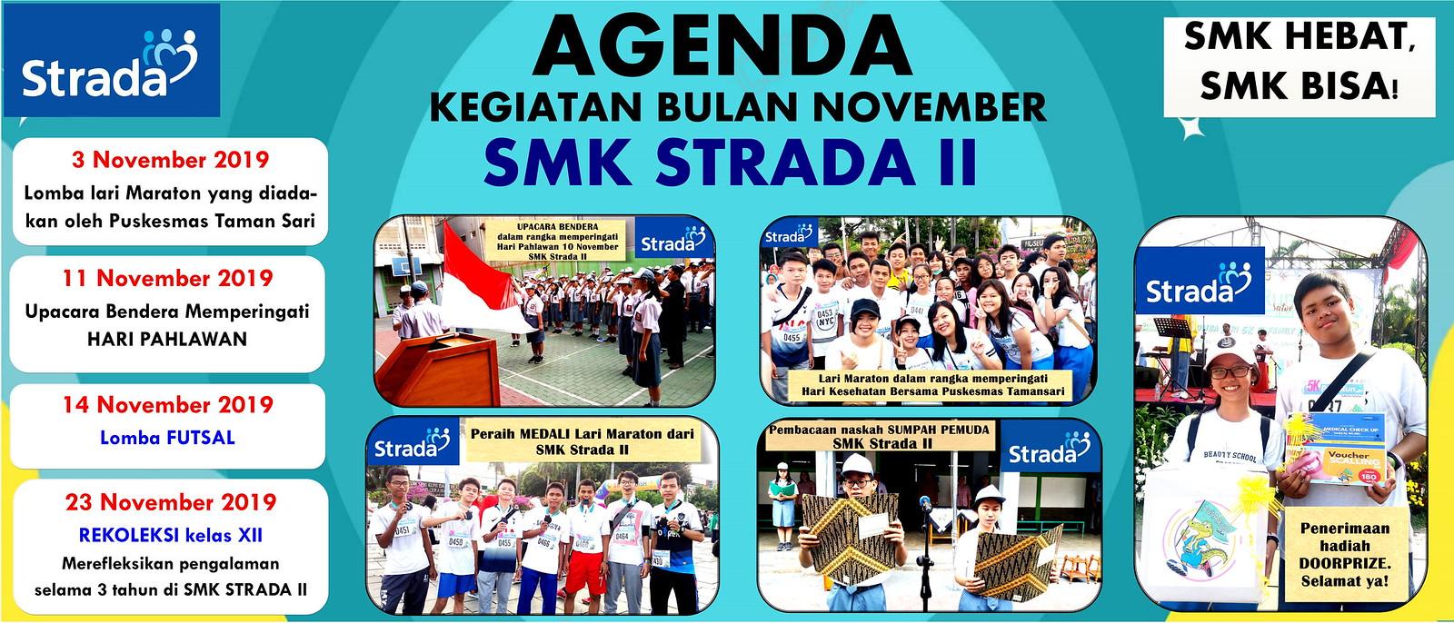 Agenda Kegiatan SMK Strada II Bulan November 2019