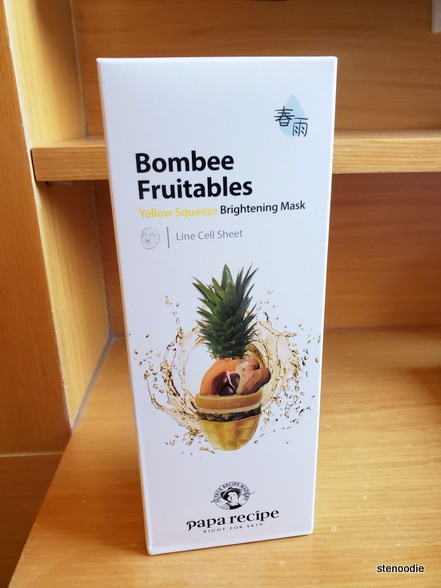 "Papa Recipe Bombee Fruitables ""Yellow Squeeze Brightening Mask"""