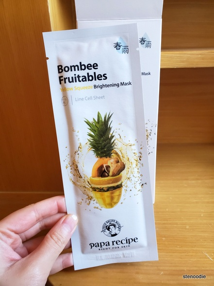 "Papa Recipe Bombee Fruitables ""Yellow Squeeze Brightening Mask"" sheet mask"