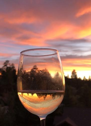 sunset wineglass california bigbear