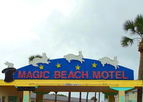 FL, Vilano Beach-Magic Beach Motel Neon Sign_a