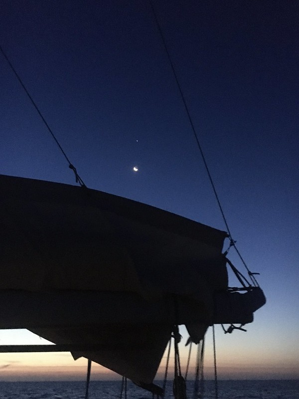Night sailing. Deal Island to George Town.