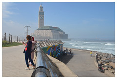Casablanca sea wall