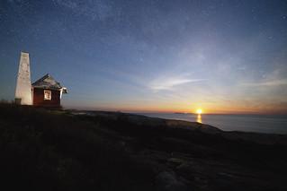 Moonrise over Monhegan