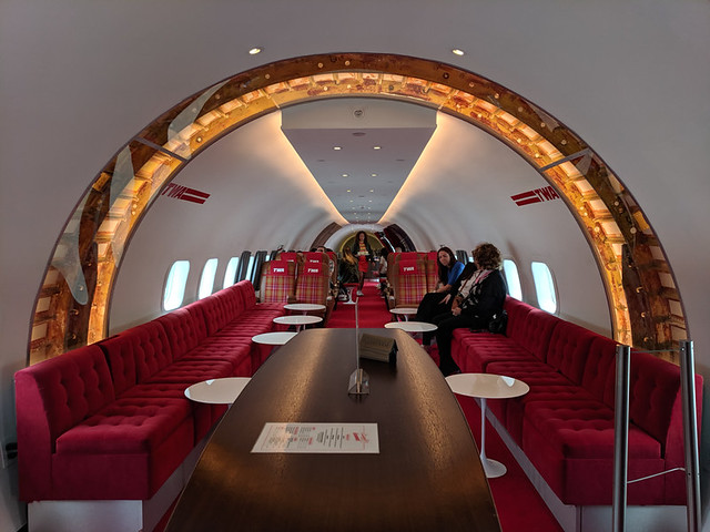 the plane is a cocktail bar