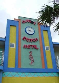 FL, Vilano Beach-Magic Beach Motel Sign