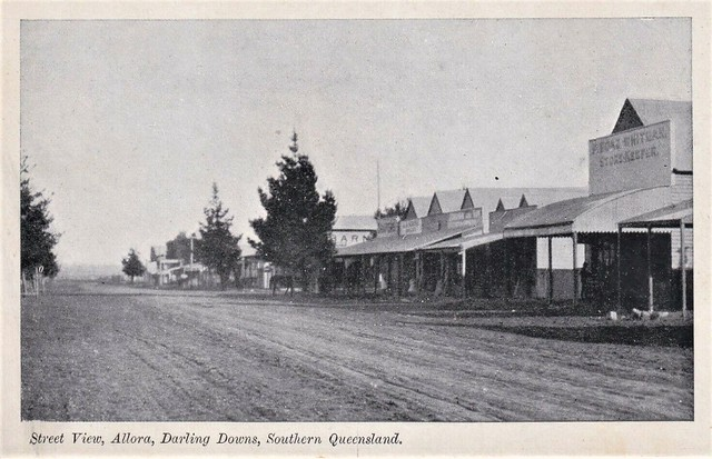 Street view in Allora, Qld - very early 1900s
