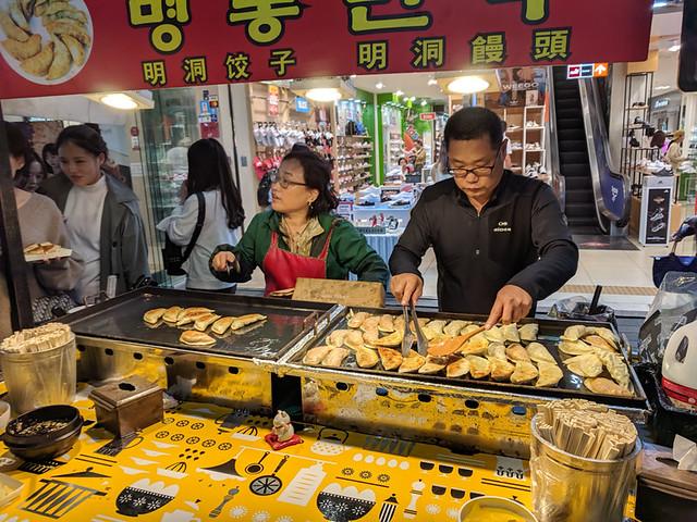 dumpling stall @ Myeongdong Night Market